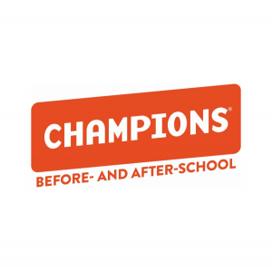 Champions Red and White Logo